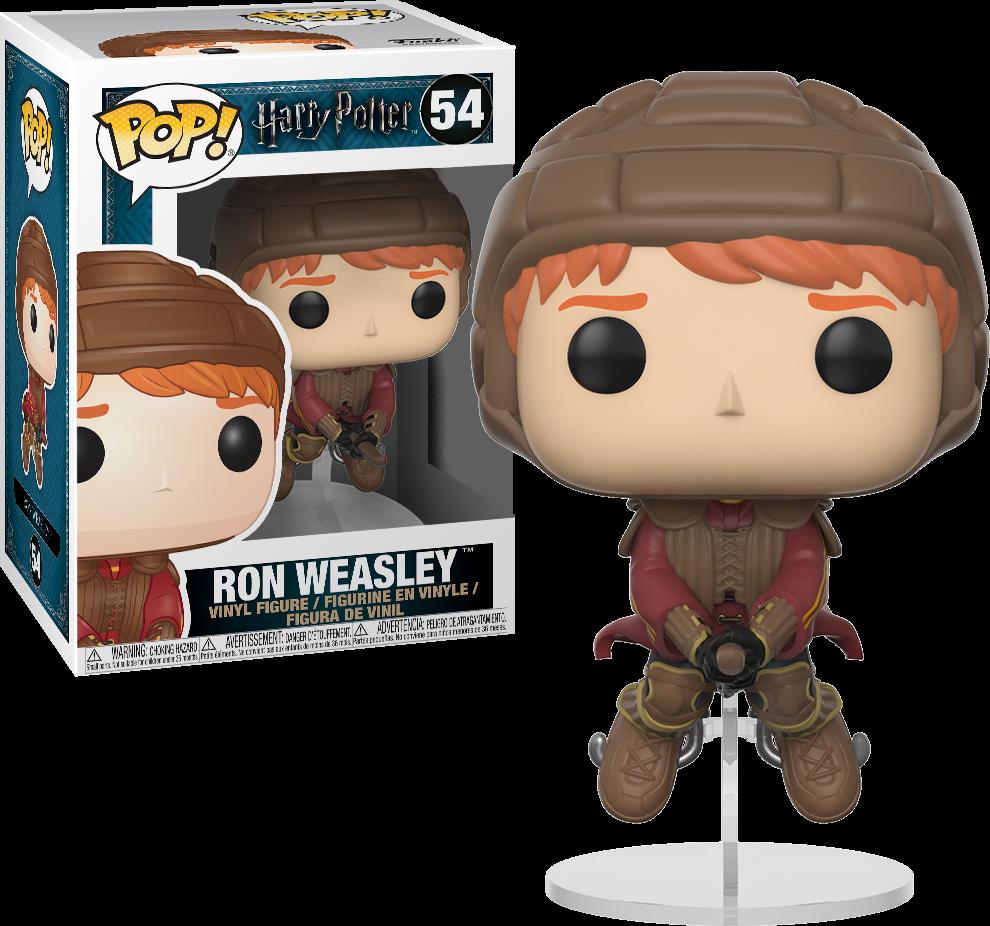 Harry Potter Pop Vinyl Ron Weasley On Broom Quidditch