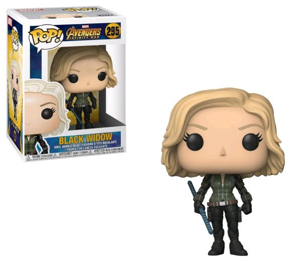 Avengers Infinity War Pop Vinyl Black Widow 3.75″ #295 Marvel - black widow action figure pop vinyl avengers - pop toys