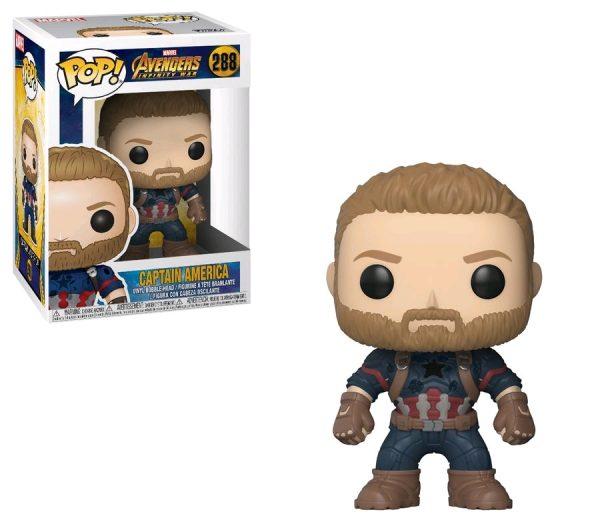 Avengers Infinity War Pop Vinyl Captain America #288 Marvel Bearded - captain america action figure pop vinyl avengers - pop toys