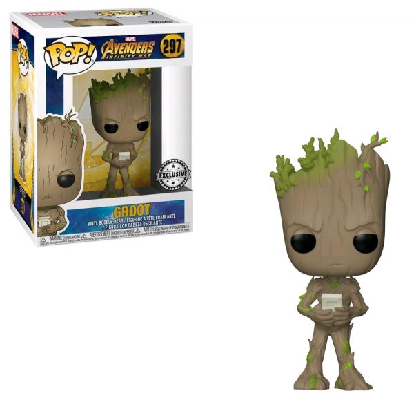 Avengers Infinity War Pop Vinyl Groot with Video Game 3.75″ #297 Marvel - groot action figure pop vinyl avengers - pop toys