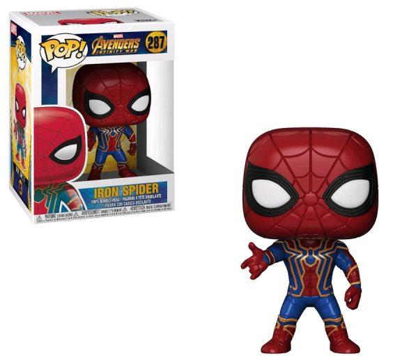 Avengers Infinity War Pop Vinyl Iron Spider #287 Marvel Spider-Man - iron spiderman action figure pop vinyl avengers - pop toys