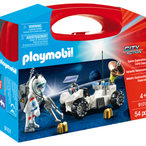 Playmobil City Action 9101 Space Exploration Carry Case - playmobil space exploration front box - playmobil - pop toys