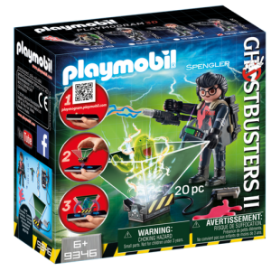 Playmobil Ghostbusters II 9346 Egon Spengler with hologram function - ghostbusters 2 front box playmobil - pop toys