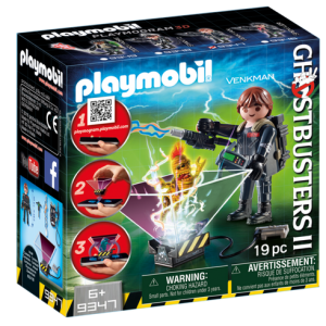 Playmobil Ghostbusters II 9347 Peter Venkman with hologram function - ghostbusters 2 front box playmobil - pop toys