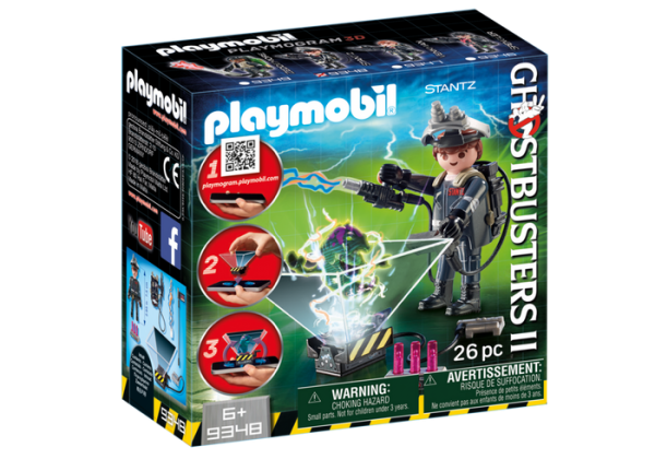 Playmobil Ghostbusters II 9348 Raymond Stanz with hologram function - ghostbusters 2 front box playmobil - pop toys