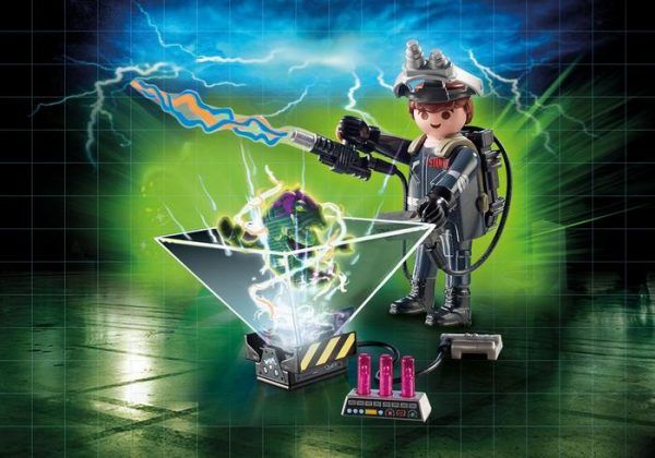 Playmobil Ghostbusters II 9348 Raymond Stanz with hologram function - ghostbusters 2 detail playmobil - pop toys