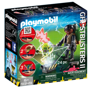 Playmobil Ghostbusters II 9349 Winston Zeddemore with hologram function - ghostbusters 2 playmobil front box - pop toys