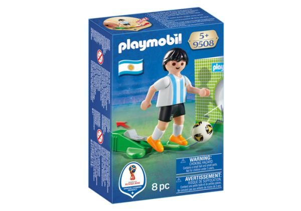 Playmobil 9508 FIFA World Cup Argentina National Player Soccer - argentina national soccer player product front box playmobil - pop toys