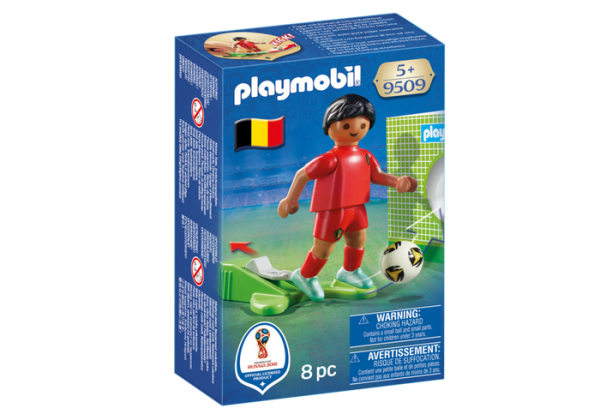 Playmobil 9509 FIFA World Cup Belgium National Player Soccer - belgium national soccer player front box playmobil - pop toys