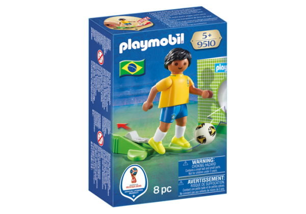 Playmobil 9510 FIFA World Cup Brazil National Player Soccer - brazil soccer player product front box playmobil - pop toys