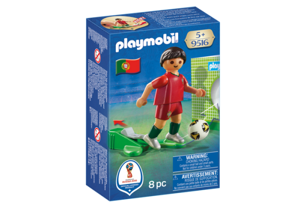 Playmobil 9516 FIFA World Cup Portugal National Team Player Soccer - portugal soccer player product box front playmobil - pop toys