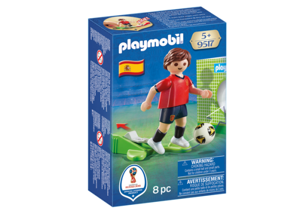 Playmobil 9517 FIFA World Cup Spain National Team Player Soccer - spain soccer player product box front playmobil - pop toys
