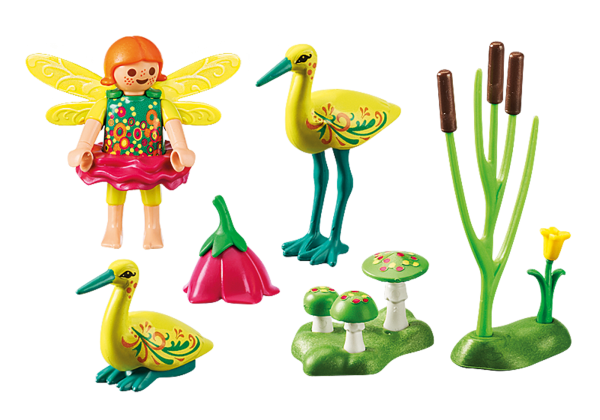 Playmobil Fairies 9138 Fairy Girl with Storks Back