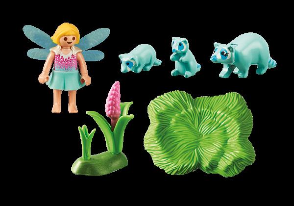Playmobil Fairies 9139 Fairy Girl with Raccoons Back