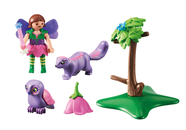 Playmobil Fairies 9140 Fairy Girl with Animal Friends Front back