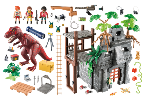 Playmobil Dino Explorers 9429 Hidden Temple with T-Rex - playmobil hidden temple with t-rex details - pop toys