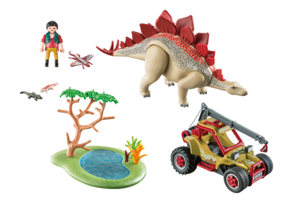 Playmobil Dino Explorers 9432 Explorer Vehicle With Stegosaurus - playmobil dino explorers back - playmobil - pop toys