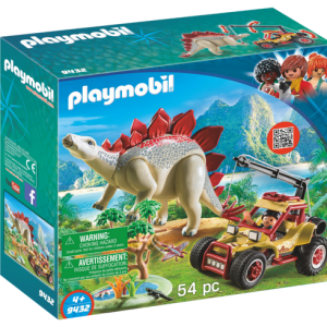 Playmobil Dino Explorers 9432 Explorer Vehicle With Stegosaurus - playmobil dino explorers front - playmobil - pop toys