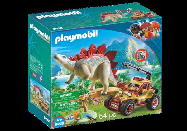 Playmobil Dino Explorers 9432 Explorer Vehicle With Stegosaurus - playmobil dino explorers front - playmobil - pop toys