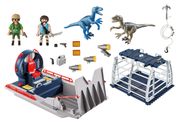 Playmobil Dino Explorers 9433 Enemy Airboat with Raptors - playmobil dino explorers - playmobil dino explorers box back - playmobil - pop toys