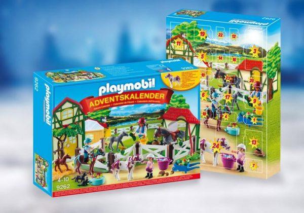 Playmobil Advent Calendar 9262 Horse Farm – Christmas - playmobil advents kalender detail box - playmobil - pop toys