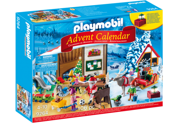 Playmobil Advent Calendar 9264 Santa's Workshop – Christmas - playmobil advent calendar box front - playmobil - pop toys