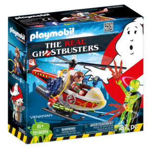 Playmobil Real Ghostbusters 9385 Peter Venkman with Helicopter - playmobil the real ghostbusters - the real ghostbusters box front - playmobil - pop toys