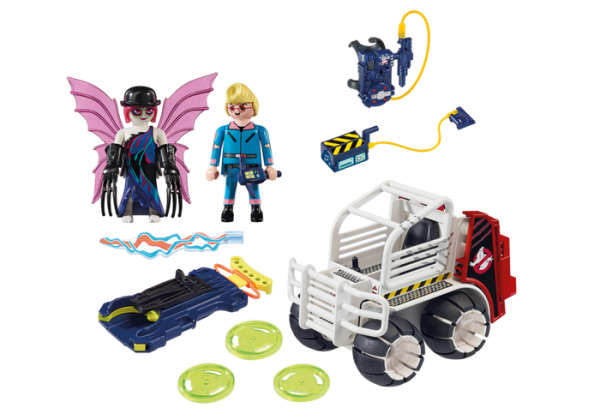 Playmobil Real Ghostbusters 9386 Egon Spengler with Cage Car - the real ghostbusters back playmobil - playmobil dino explorers - playmobil - pop toys