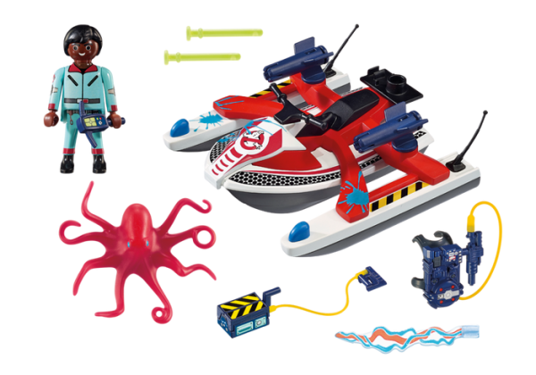 Playmobil Real Ghostbusters 9387 Zeddemore with Aqua Scooter - playmobil the real ghostbusters - playmobil - pop toys