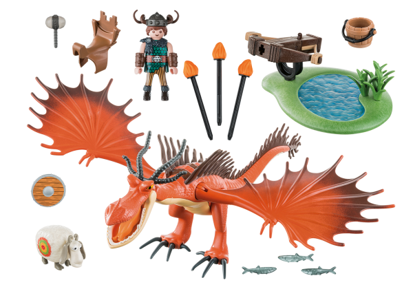 Playmobil Dragons 9459 Snotlout and Hookfang Inside the Box