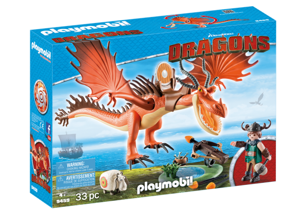 Playmobil Dragons 9459 Snotlout and Hookfang Box