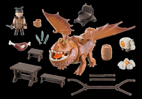 Playmobil Dragons 9460 Fishlegs and Meatlug Inside the box