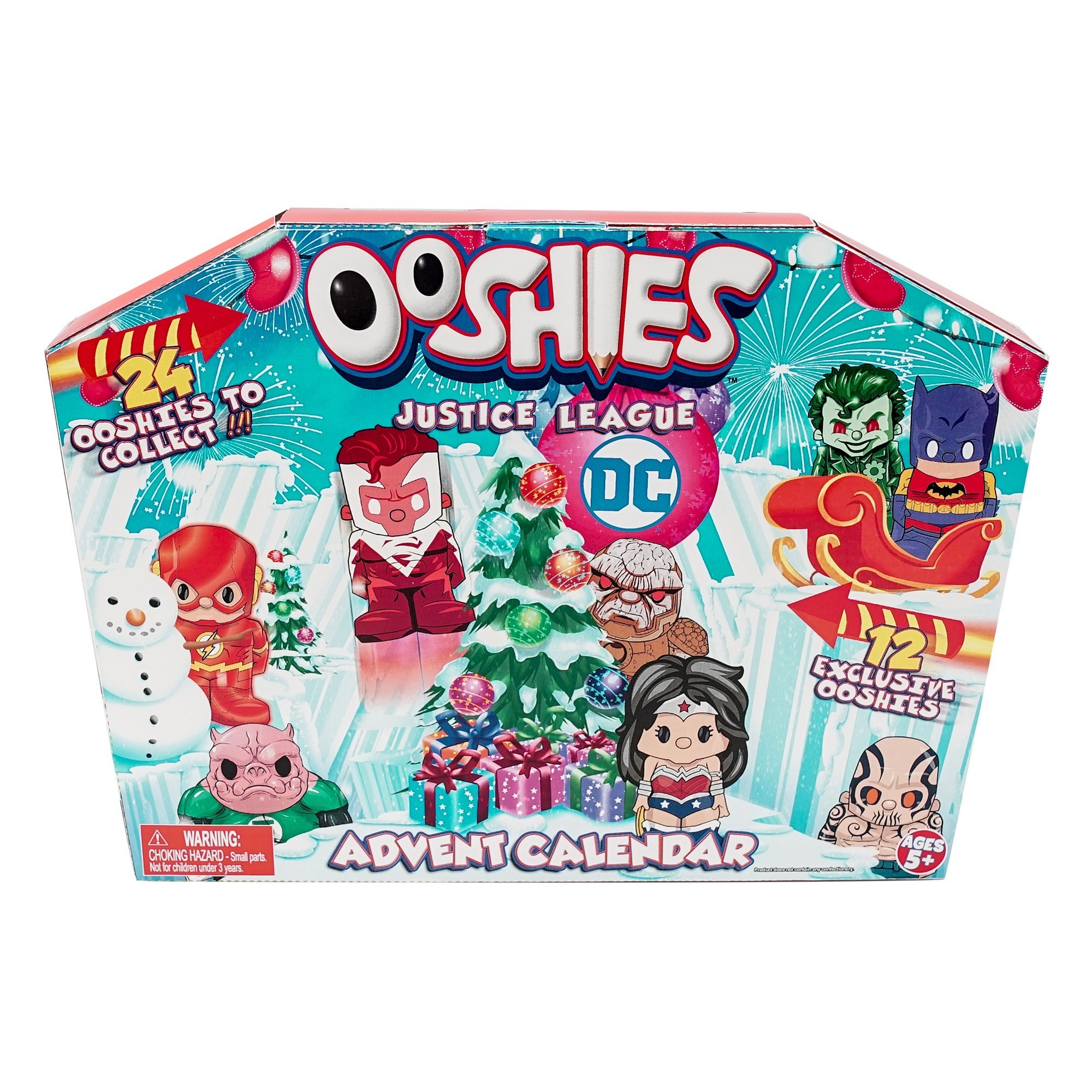 Ooshies DC Comic Justice League Advent Calendar 2018 – Christmas