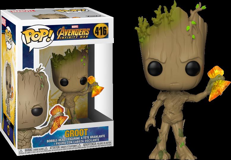 Avengers Infinity War Pop Vinyl Groot With Stormbreaker 3