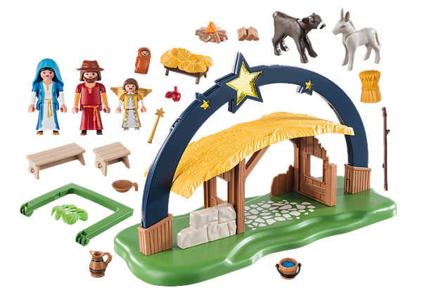 Playmobil Christmas 9494 Illuminating Nativity Manger - lights up! - image 9494_Illuminating-Nativity-Manger-600x420 on https://pop.toys