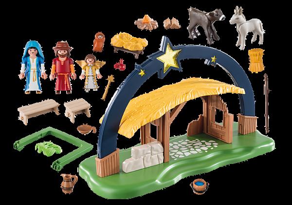 Playmobil Christmas 9494 Illuminating Nativity Manger - lights up! - image 9494_Illuminating-Nativity-Manger-600x420 on https://pop.toys