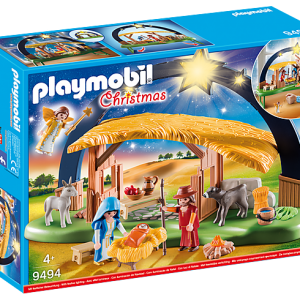 Playmobil Knights 9341 Horse Drawn Ballista - image 9494_Illuminating-Nativity-Manger_box-300x300 on https://pop.toys