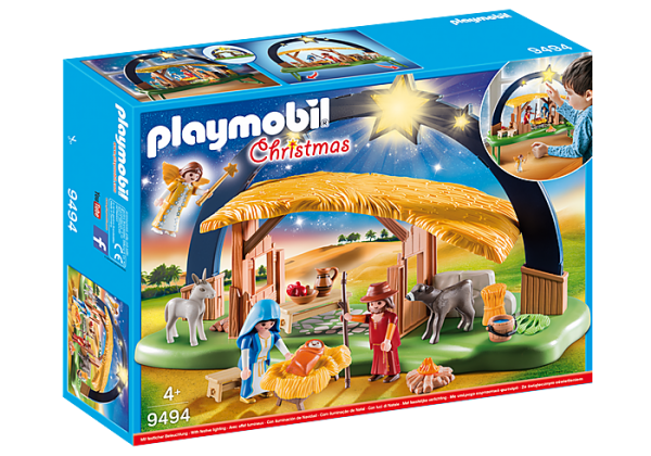 Playmobil Christmas 9494 Illuminating Nativity Manger - lights up! - image 9494_Illuminating-Nativity-Manger_box-600x420 on https://pop.toys