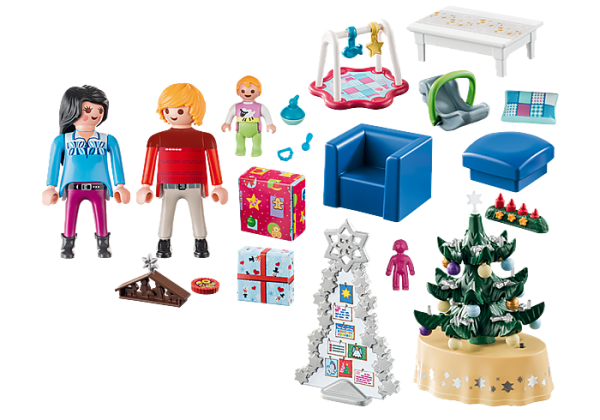 Playmobil Christmas 9495 Xmas Living Room - image 9495_Christmas-Living-Room_loose-600x420 on https://pop.toys