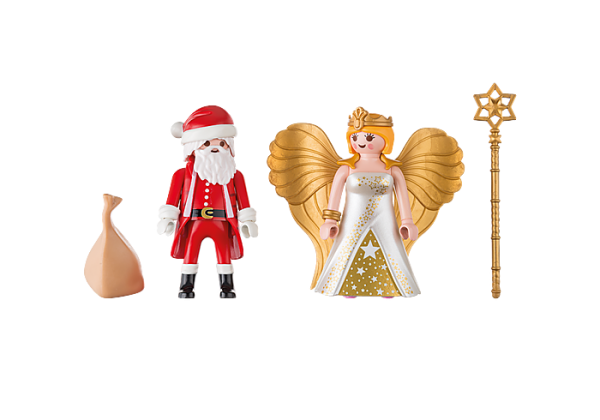 Playmobil Christmas 9498 Santa and Christmas Angel - image 9498_Santa-and-Christmas-Angel-600x420 on https://pop.toys