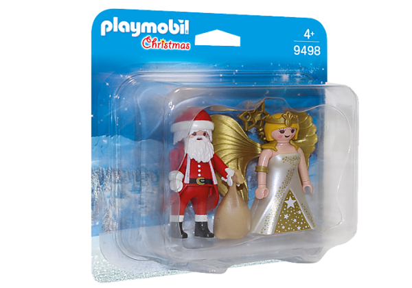 Playmobil Christmas 9498 Santa and Christmas Angel - image 9498_Santa-and-Christmas-Angel_box-600x420 on https://pop.toys