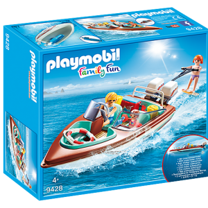 Playmobil Family Fun 9421 Family Car with 4 figures - image playmobil9428_Speedboat-with-Underwater-Motor-300x300 on https://pop.toys