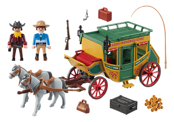 Playmobil Western 70013 Western Stagecoach - image 70013_Western-Stagecoach1-600x420 on https://pop.toys