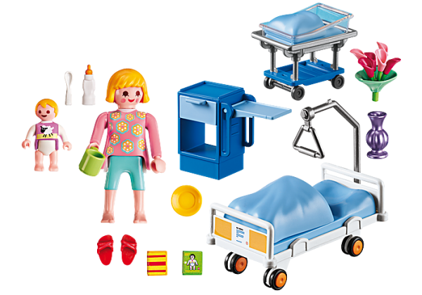 Playmobil City Life 6660 Maternity Room - image 6660_Maternity-Room_loose-600x420 on https://pop.toys