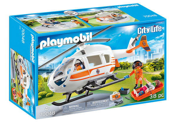 Playmobil City Life 70048 Rescue Helicopter - image 70048_Helicoptor-600x420 on https://pop.toys