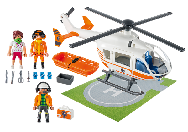 Playmobil City Life 70048 Rescue Helicopter - image 70048_Helicoptor_loose-600x420 on https://pop.toys