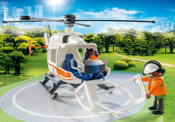 Playmobil City Life 70048 Rescue Helicopter - image 70048_Helicoptor_loose2-600x420 on https://pop.toys