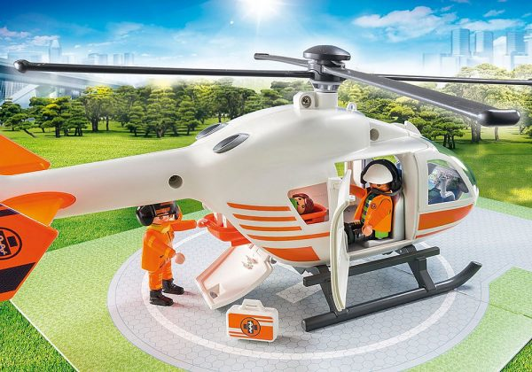 Playmobil City Life 70048 Rescue Helicopter - image 70048_Helicoptor_loose3-600x420 on https://pop.toys