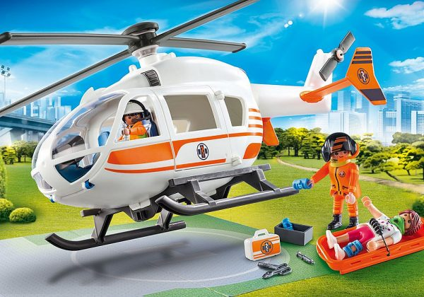 Playmobil City Life 70048 Rescue Helicopter - image 70048_Helicoptor_loose4-600x420 on https://pop.toys
