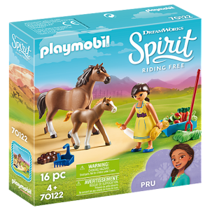 Playmobil Spirit Riding Free 70120 Snips, Senor Carrots w/stall - image 70122_Pru-with-Horse-and-Foal_box-300x300 on https://pop.toys